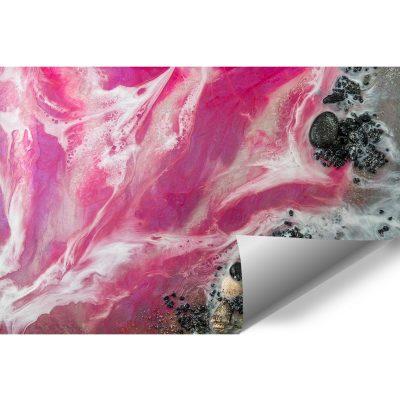 różowa tapeta do syplialni