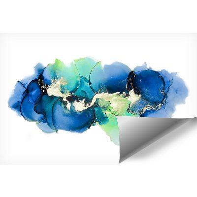 fototapeta z niebieskimi kleksami