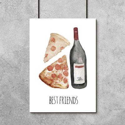plakat z pizzą