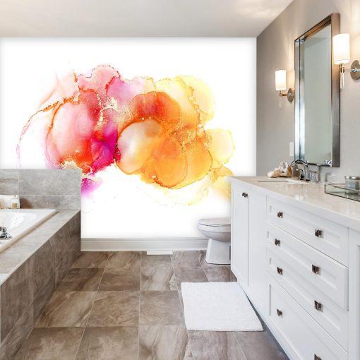 fototapeta z abstrakcja w łazience