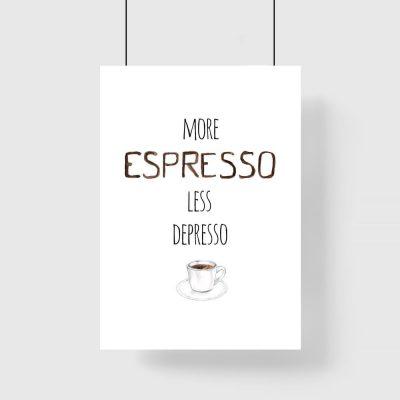 espresso i depresso jako plakat ścienny