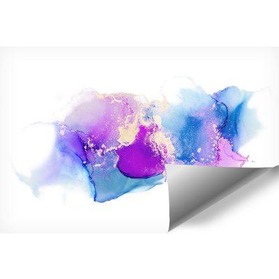 plamy niebieskie i fioletowe jako tapeta