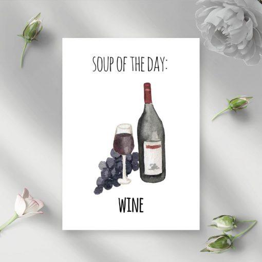 motyw wina na plakacie ściennym