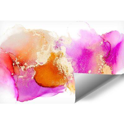 fototapeta ścienna z plamkami różowymi