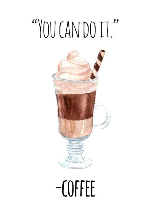 plakat z motywem kawy do kuchni