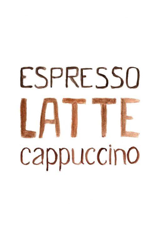 plakat jako ozdoba do kawiarni