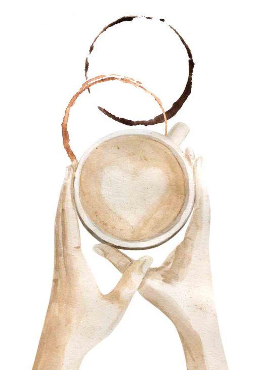 plakat przedstawiający kawę