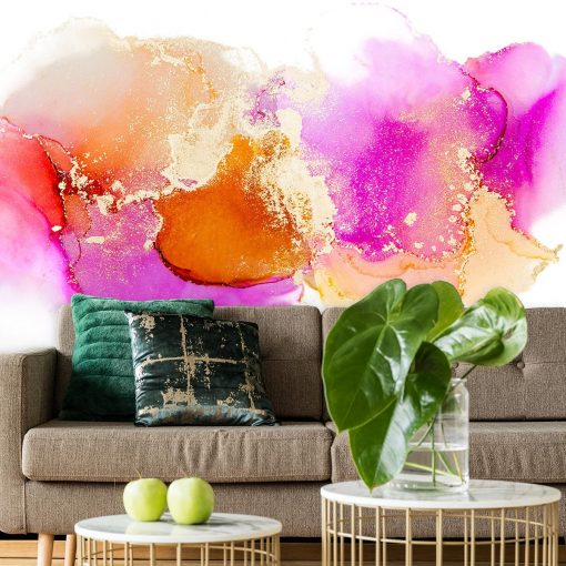 różowe i pomarańczowe plamki jako tapeta