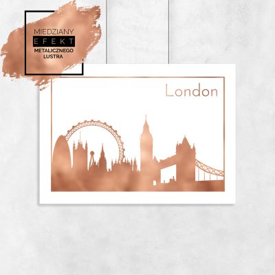 plakat z Londynem