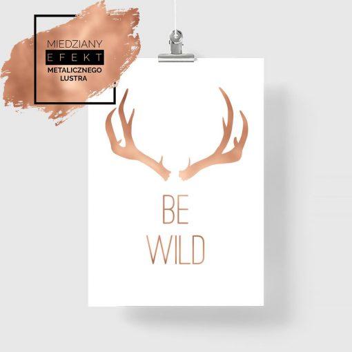 "plakat z napisem ""Be wild"""