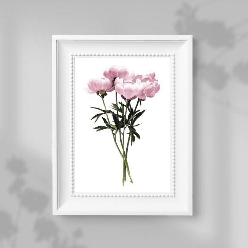 kwiaty na plakacie minimalistycznym