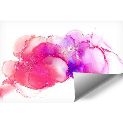 dekoracja z fioletowymi akcentami
