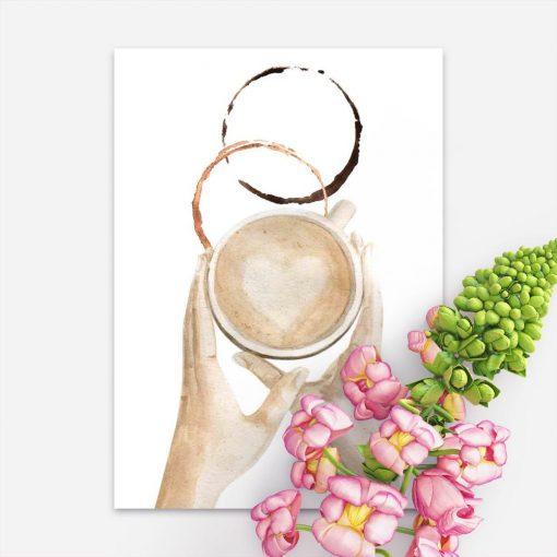 plakat z filiżanką kawy