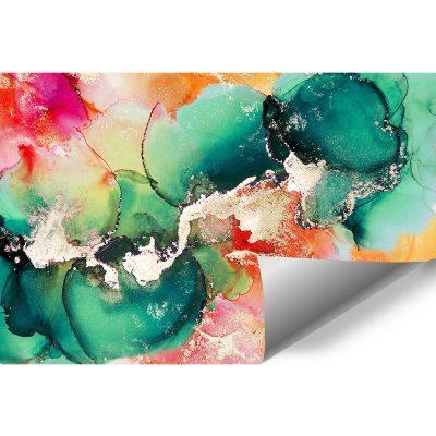Foto-tapeta z zielonymi abstrakcyjnymi plamkami
