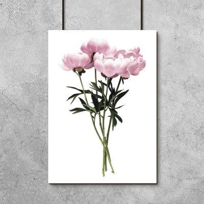 bukiet kwiatków na plakacie