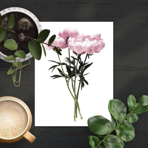 minimalistyczna dekoracja jako plakat z kwiatami