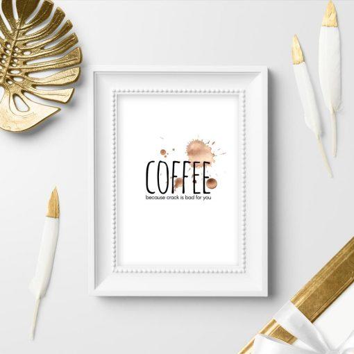 plamki i napis jako plakat do kawiarni