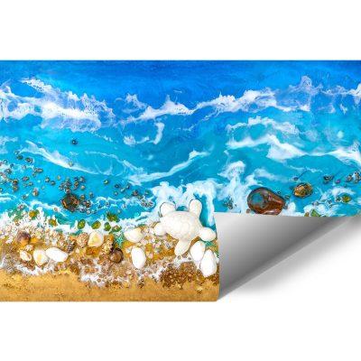Fototapeta dekoracja z kamieniami resin sea żywiczna