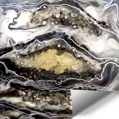 Fototapeta dekoracja z kamieniami i abstrakcją szara