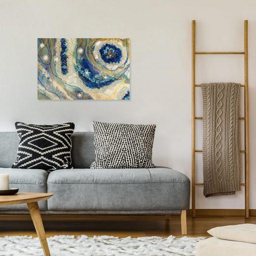 obraz do salonu na ścianie abstrakcja geode art