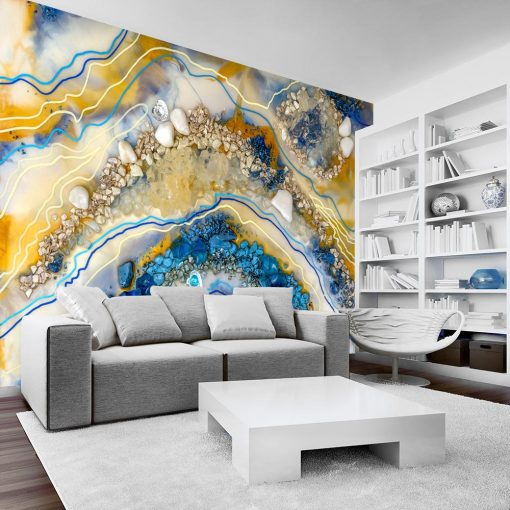 Dekoracja do salonu fototapeta kolorowa abstrakcja sztuka żywiczna