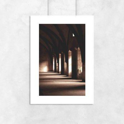 Plakat do ramy z komnatą w zamku