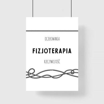 Plakat - Praca fizjoterapeuty