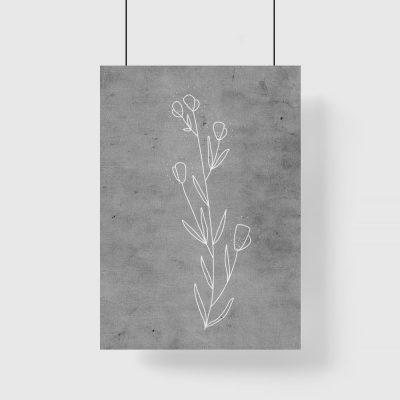 plakat do salonu z motywem rośliny