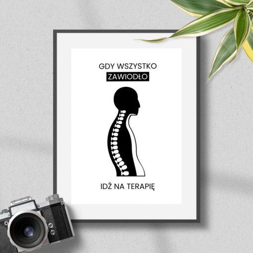 Plakat do gabinetu fizjoterapeuty - Idź na terapię
