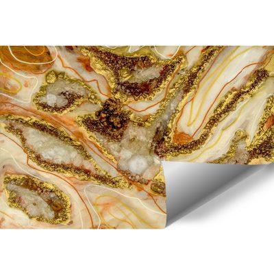 Fototapeta dekoracja abstrakcyjna z kamieniami geode style