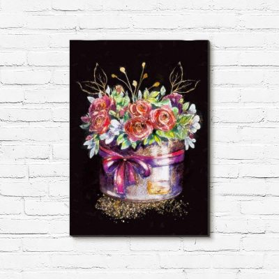 Obraz - Pudełko z kwiatami
