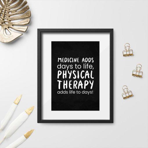 Plakat do gabinetu fizjoterapii - Physical therapy