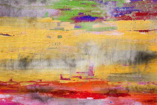 obraz z motywem kolorowych plam farby na betonie