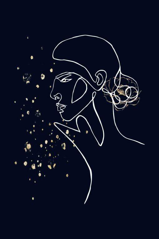 Obraz z motywem profilu kobiety