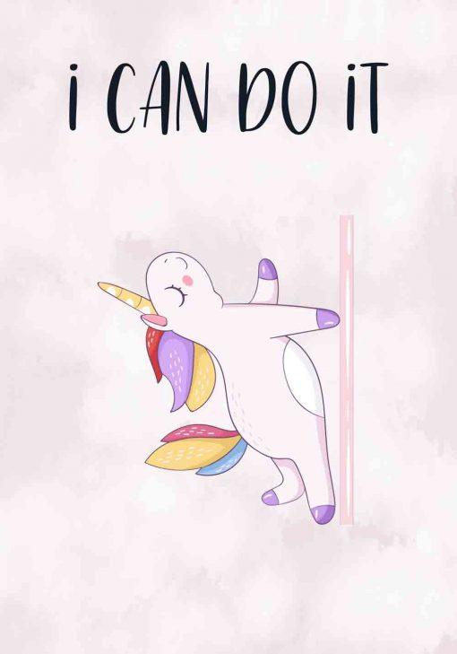 Plakat z napisem - I can do it