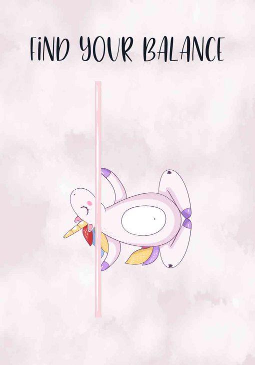 Plakat z napisem - Find your balance