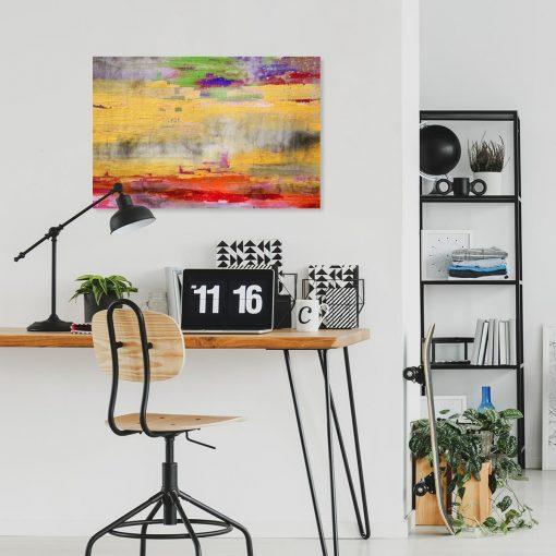 obraz do gabinetu z abstrakcyjnymi plamami