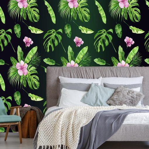 foto-tapeta z motywem egzotycznych roślin
