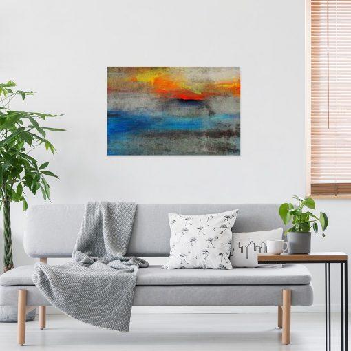 obraz do salonu z abstrakcją na betonie