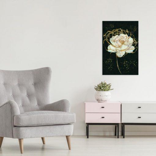 Obraz z motywem róży do salonu
