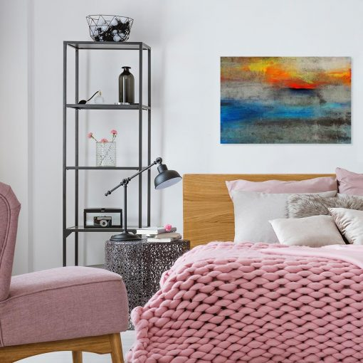 obraz do sypialni z motywem abstrakcyjnych plam farby