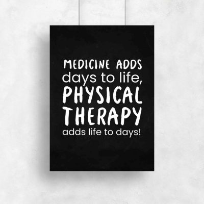 Plakat typograficzny - Physical therapy