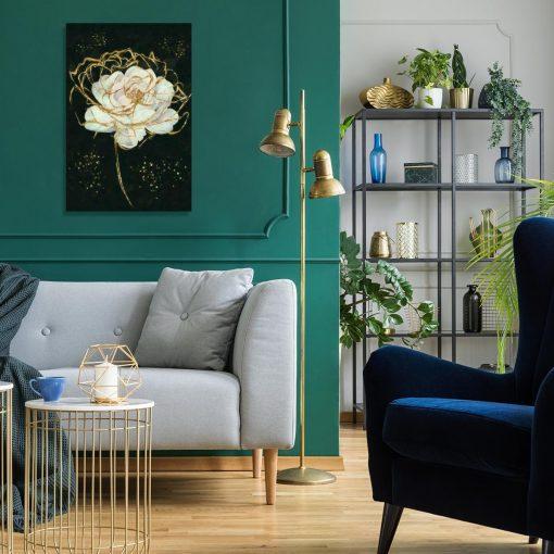 Obraz z motywem róży na ścianę salonu
