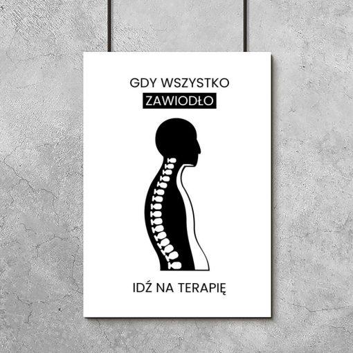 Plakat dla fizjoterapeuty - Idź na terapię
