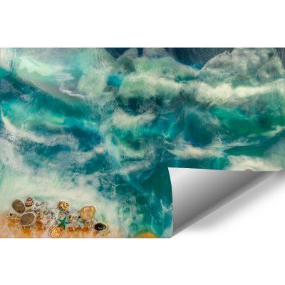 Fototapeta dekoracja z kamieniami morze żywiczna