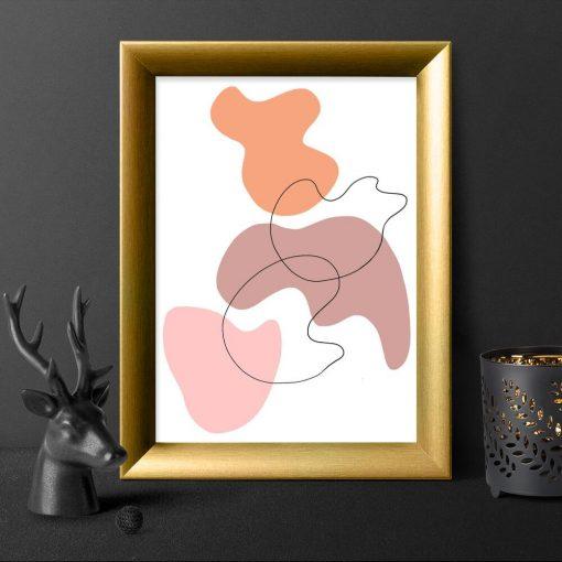 Plakat z abstrakcją w plamy do biura