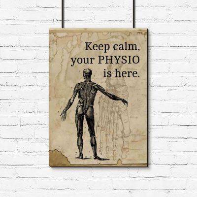 Plakat dla fizjoterapeuty - Keep calm