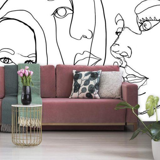 Fototapeta do sypialni - Line art