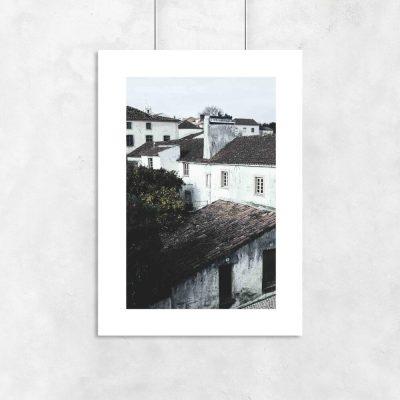 plakat z miasteczkiem