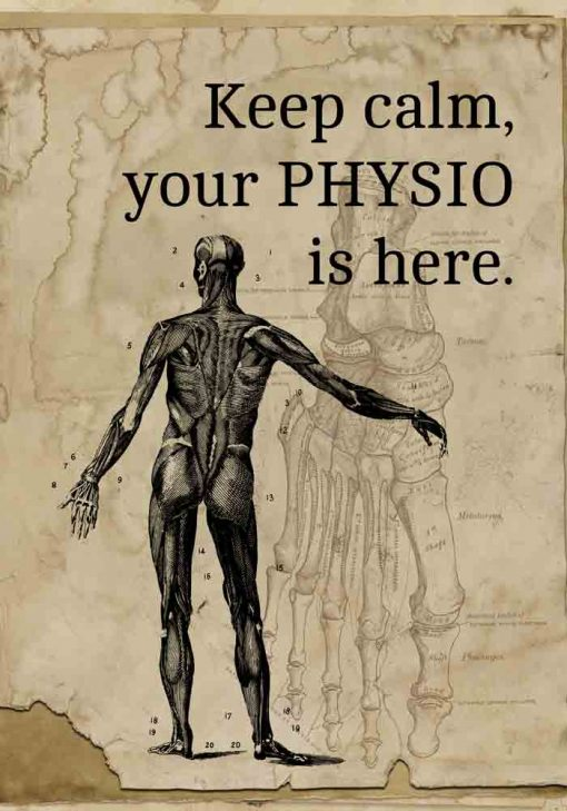 Plakat z napisem - Keep calm, your physio is here